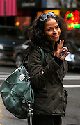 Sherrie Saum appears on the set of Gossip Girl while taping on the Upper East Side in New York City on November 12, 2009.