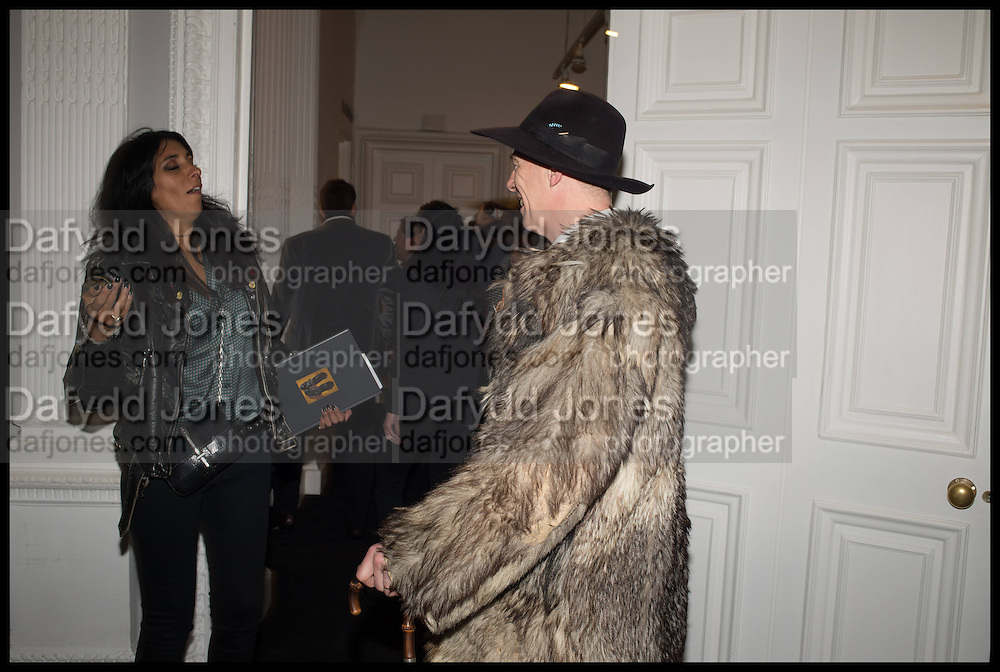 SERENA REES; GAZ MAYALL Private view, Paul Simonon- Wot no Bike, ICA Nash and Brandon Rooms, London. 20 January 2015