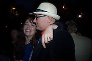 BETH QUINN; ( MRS. WELSH) IRVINE WELSH, To celebrate the launch of  Crime,  by Irvine Welsh. Party on boat ' The  Golden Flame. Thames. 17 July 2008 *** Local Caption *** -DO NOT ARCHIVE-© Copyright Photograph by Dafydd Jones. 248 Clapham Rd. London SW9 0PZ. Tel 0207 820 0771. www.dafjones.com.