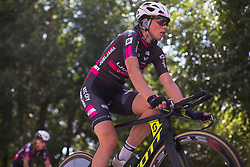 Eugenia Bujak (POL) of BTC City Ljubljana Cycling Team warms up for Stage 1 of the Madrid Challenge - a 12.6 km team time trial, starting and finishing in Boadille del Monte on September 15, 2018, in Madrid, Spain. (Photo by Balint Hamvas/Velofocus.com)
