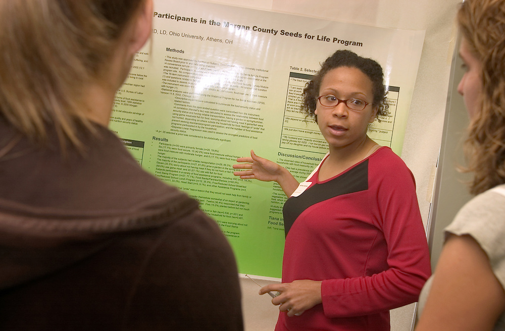Thursday, May 12, for the Student Research and Creative Activity Fair at the Convo Center.Tiana Matthews, Mogan County Seeds for life Program