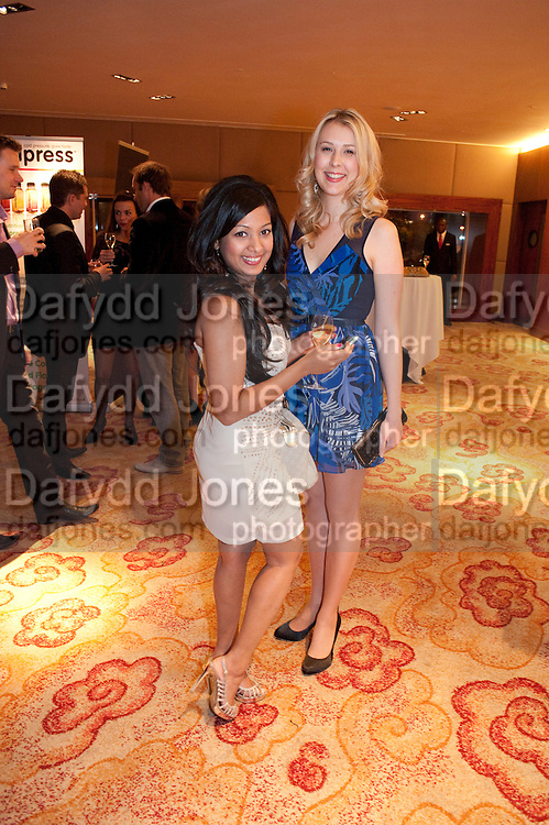 DARSHANA SHAH; JUSTINE PRIESTLEY, London Lifestyle Awards. Riverbank Park Plaza. London.6 October 2011. <br /> <br />  , -DO NOT ARCHIVE-&copy; Copyright Photograph by Dafydd Jones. 248 Clapham Rd. London SW9 0PZ. Tel 0207 820 0771. www.dafjones.com.