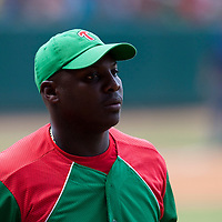 15 February 2009: Joan Carlos Pedroso is seen during a training game of Cuba Baseball Team for the World Baseball Classic 2009. The national team is pitted against itself, divided in two teams called the Occidentales and the Orientales. The Orientales win 12-8, at the Latinoamericano stadium, in la Habana, Cuba.
