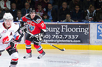 KELOWNA, CANADA - NOVEMBER 30: JT Barnett #17 of the Kelowna Rockets skates on the ice against the Moose Jaw Warriors at the Kelowna Rockets on November 30, 2012 at Prospera Place in Kelowna, British Columbia, Canada (Photo by Marissa Baecker/Getty Images) *** Local Caption ***
