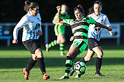 Forest Green Rovers Kayla Garland(11) during the South West Womens Premier League match between Forest Greeen Rovers Ladies and Marine Academy Plymouth LFC at Slimbridge FC, United Kingdom on 5 November 2017. Photo by Shane Healey.