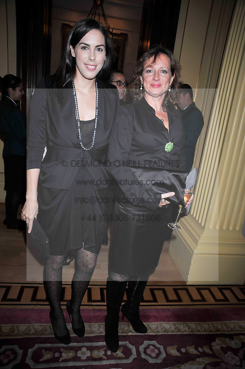 Left to right, JESSICA DE ROTHSCHILD and ALEX JOHNSON at a reception to launch Films Without Borders held The Lanesborough Hotel, London on 8th October 2009.