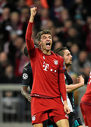 04.11.2015, Allianz Arena, Muenchen, GER, UEFA CL, FC Bayern Muenchen vs FC Arsenal, Gruppe F, im Bild <br /> TOR zum 2:0 durch Thomas Mueller FC Bayern Muenchen // during the UEFA Champions League group F match between FC Bayern Munich and FC Arsenal at the Allianz Arena in Muenchen, Germany on 2015/11/04. EXPA Pictures © 2015, PhotoCredit: EXPA/ Eibner-Pressefoto/ Weber<br /> <br /> *****ATTENTION - OUT of GER*****