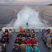 CULEBRA,  PUERTO RICO -- FEBRUARY 3, 2019: <br /> Visitors travel to the island of Culebra, next to Vieques, ride the 6AM boat from Ceiba. The ride takes 30 minutes,<br /> (Photo by Angel Valentin)