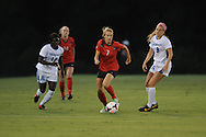 Ole Miss' Bethany Bunker (7) vs. Memphis' Danielle Tolmais (19) and Memphis' Christabel Oduro (10) in soccer action at the Ole Miss Soccer Stadium in Oxford, Miss. on Sunday, September 15, 2013. Ole Miss won 3-0.