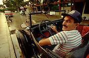 CUBA, GUARDALAVACA..Vintage cabriolet (1930 Ford convertible)..(Photo by Heimo Aga)