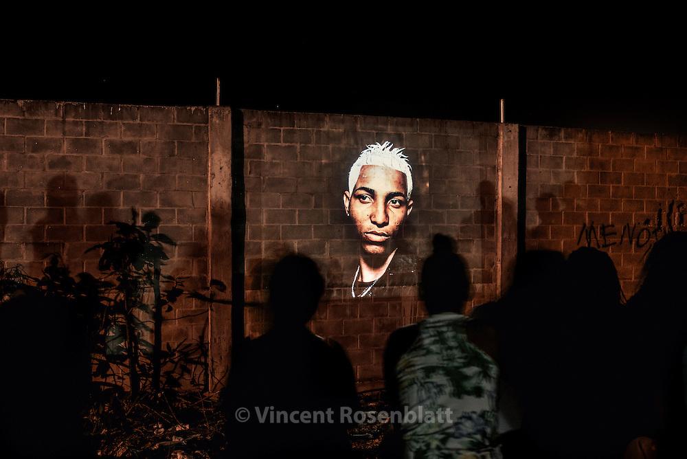 "Slideshow ""Rio Baile Funk"" - work by Vincent Rosenblatt in the favela Margem da Linha, in Campos, Rio de Janeiro state."