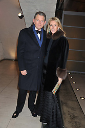 BERNARD & FIONA DREESMAN at a private view of 'Valentino: Master Of Couture' at Somerset House, London on 28th November 2012.