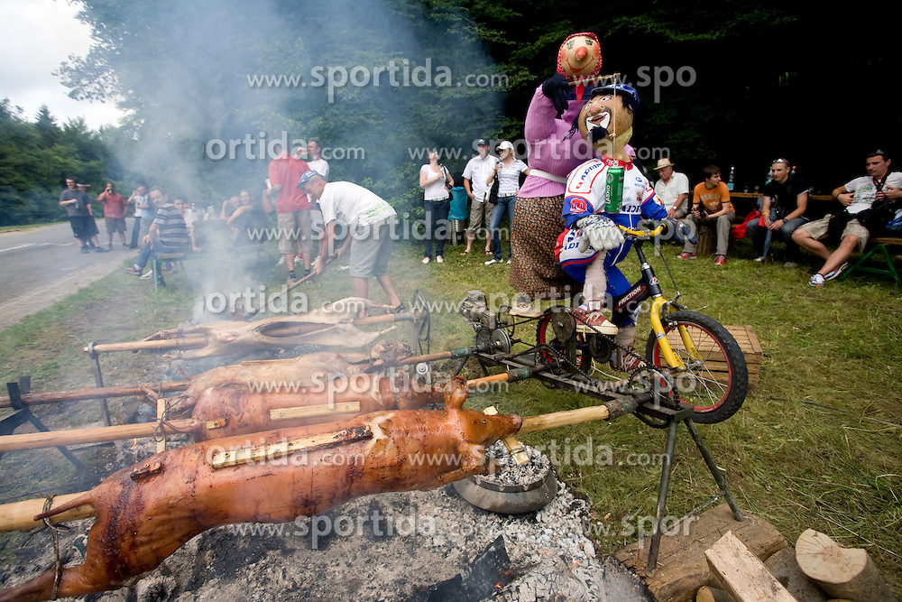 Pig roasting at Slovenian National Championships in Road cycling, 178 km, on June 28 2009, in Mirna Pec, Slovenia. (Photo by Vid Ponikvar / Sportida)