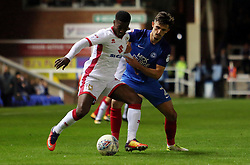 Liam Shephard of Peterborough United gets tight to Kieran Agard of Milton Keynes Dons - Mandatory by-line: Joe Dent/JMP - 12/09/2017 - FOOTBALL - ABAX Stadium - Peterborough, England - Peterborough United v Milton Keynes Dons - Sky Bet League One
