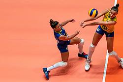 29-05-2019 NED: Volleyball Nations League Poland - Brazil, Apeldoorn<br /> Leia Henrique Da Silva Nicolosi #19 of Brazil, Gabriela Braga Guimaraes C #10 of Brazil