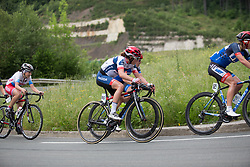 Clara Koppenburg (GER) of Cervélo-Bigla Cycling Team and Hayley Simmonds (GBR)  of Team WNT ride mid-pack during Stage 3 of the Emakumeen Bira - a 77.6 km road race, starting and finishing in Antzuola on May 19, 2017, in Basque Country, Spain. (Photo by Balint Hamvas/Velofocus)