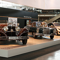 1936 Mercedes-Benz 500K with 1961 Mercedes-Benz 220 SE Coupe and 2010 Mercedes-Benz F 800 Style, Retro Classics 2011