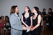 MAT COLLISHAW; NINA WAGNER; KIM WAGNER; , Private view and Summer party to celebrate Haunch of Venison's exhibition. Joanna Vasconcelos; I will Survive and Polly Morgan: Psychopomps. Dover st. arts Club. 20 July 2010. -DO NOT ARCHIVE-© Copyright Photograph by Dafydd Jones. 248 Clapham Rd. London SW9 0PZ. Tel 0207 820 0771. www.dafjones.com.