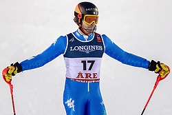 11.02.2019, Aare, SWE, FIS Weltmeisterschaften Ski Alpin, alpine Kombination, Herren, Slalom, im Bild Christof Innerhofer (ITA) // Christof Innerhofer of Italy reacts after the Slalom competition of the men's alpine combination for the FIS Ski World Championships 2019. Aare, Sweden on 2019/02/11. EXPA Pictures © 2019, PhotoCredit: EXPA/ Dominik Angerer