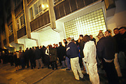 A long queue outside Ministry of Sound, London, U.K, 2000.
