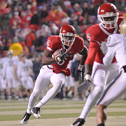 Oct 16, 2009; Piscataway, NJ, USA; Rutgers wide receiver Mohamed Sanu (6) runs for a touchdown during first half NCAA football action between Rutgers and Pittsburgh at Rutgers Stadium
