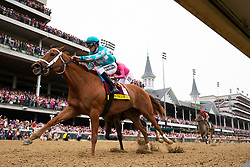 Monomoy Girl with Florent Geroux up edges out  Wonder Gadot with John Velazquez to win the 144th Kentucky Oaks,Tuesday, Aug. 26, 2014 at the Churchill Downs in Louisville.