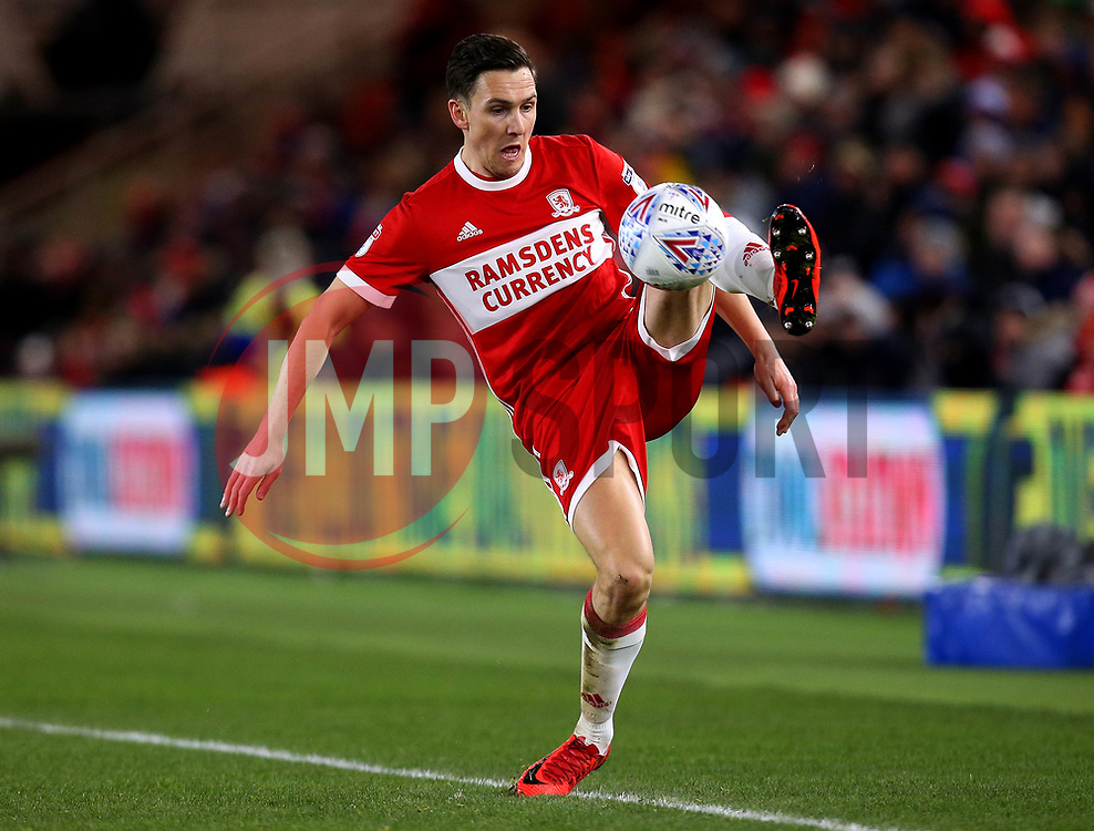 Stewart Downing of Middlesbrough - Mandatory by-line: Robbie Stephenson/JMP - 02/03/2018 - FOOTBALL - Riverside Stadium - Middlesbrough, England - Middlesbrough v Leeds United - Sky Bet Championship