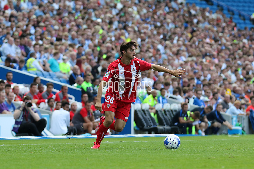 David Carmona of Sevilla during the Pre-Season Friendly match between Brighton and Hove Albion and Sevilla at the American Express Community Stadium, Brighton and Hove, England on 2 August 2015. Photo by Ellie Hoad.