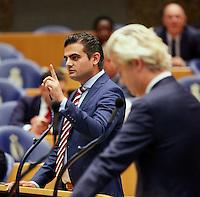 DEN HAAG, 21 september.<br /> Algemene Politieke Beschouwingen, daags na Prinsjesdag. Tunahan Kuze van DENK vs. Wilders (PVV). FOTO MARTIJN BEEKMAN