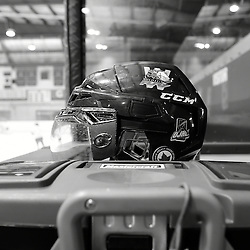 WHITBY, ON - SEP 22,  2016: Ontario Junior Hockey League game between Georgetown and Whitby, Before the game.<br /> (Photo by Andy Cornea / OJHL Images)