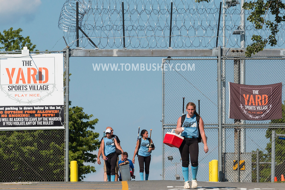 Warwick, New York - The Frozen Ropes Force softball team plays in a tournament at The Yard Sports Village on June 25, 2016.