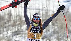 15.03.2017, Aspen, USA, FIS Weltcup Ski Alpin, Finale 2017, Abfahrt, Damen, Siegerehrung, im Bild Sofia Goggia (ITA, 3. Platz und 2. Platz Abfahrts-Weltcup) // Downhill World Cup second placed Sofia Goggia of Italy during the winner award ceremony for the ladie's downhill of 2017 FIS ski alpine world cup finals. Aspen, United Staates on 2017/03/15. EXPA Pictures © 2017, PhotoCredit: EXPA/ Erich Spiess