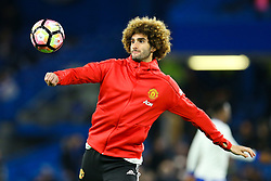 Marouane Fellaini of Manchester United warms up with the subs - Mandatory by-line: Jason Brown/JMP - 13/03/2017 - FOOTBALL - Stamford Bridge - London, England - Chelsea v Manchester United - Emirates FA Cup Quarter Final