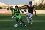 Forest Green Rovers Reece Brown(10) shields the ball during the Pre-Season Friendly match between SC Farense and Forest Green Rovers at Estadio Municipal de Albufeira, Albufeira, Portugal on 25 July 2017. Photo by Shane Healey.