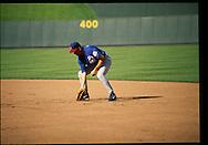 June 27th 1998 Kansas City, MO.Mark Grace warms up before an interleague game at Kauffman Stadium.PHOTO BY CHRIS MACHIAN