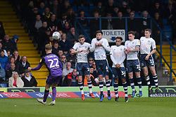 Tom Conlon of Port Vale hits a freekick narrowly over - Mandatory by-line: JMP - 04/05/2019 - FOOTBALL - Gigg Lane - Bury, England - Bury v Port Vale - Sky Bet League Two