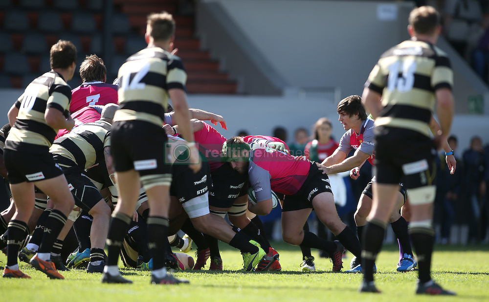 Nardus van der Walt of the Pumas carries the ball at the back of the maul during the Currie Cup premier division match between the Boland Cavaliers and The Pumas held at Boland Stadium, Wellington, South Africa on the 2nd September 2016<br /> <br /> Photo by:   Shaun Roy/ Real Time Images