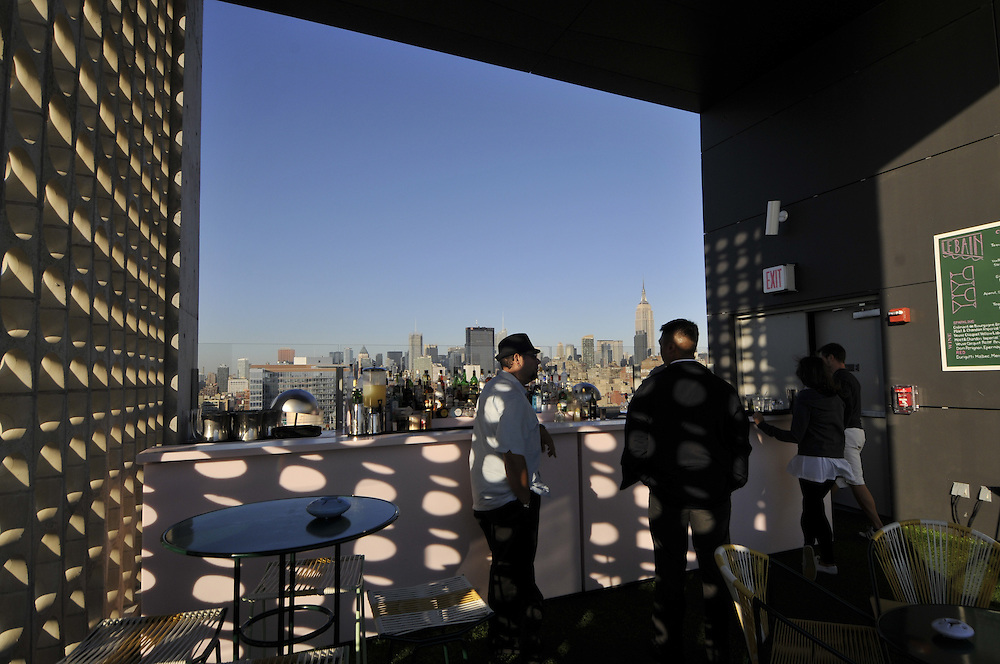 Standard Hotel part of Andre Balazs Properties,  Manhattan, New York City, New York, USA designed by Polshek Partnership Architects, Rooftop Bar