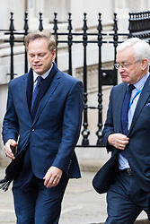 London, November 29 2017. Grant Shapps (left) is seen walking up Downing Street to a meeting at No. 10. © Paul Davey