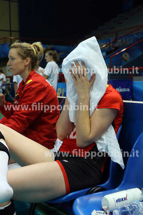 Belgium Lise Van Hecke is disappointed