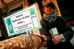 UK ENGLAND LONDON 15MAR07 - Organic bread on sale at a stall in Spittalfields Market in East London. ..jre/Photo by Jiri Rezac..© Jiri Rezac 2007..Contact: +44 (0) 7050 110 417.Mobile:  +44 (0) 7801 337 683.Office:  +44 (0) 20 8968 9635..Email:   jiri@jirirezac.com.Web:    www.jirirezac.com..© All images Jiri Rezac 2007 - All rights reserved.