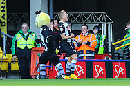 Matej Vydra of Watford celebrates scoring his team's first goal to make it 1-1 during the Sky Bet Championship match at Vicarage Road, Watford<br /> Picture by David Horn/Focus Images Ltd +44 7545 970036<br /> 01/11/2014