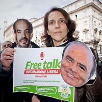 Flash-mob della lista Green Italia contro la censura
