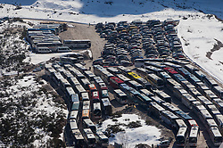 Parking place during the Ski Flying Individual Qualification at Day 1 of FIS World Cup Ski Jumping Final, on March 19, 2015 in Planica, Slovenia. Photo by Vid Ponikvar / Sportida