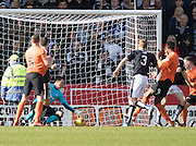 Dundee&rsquo;s David Mitchell saves from Dundee United's Edward Ofere - Dundee United v Dundee in the Ladbrokes Premiership at Tannadice<br /> <br />  - &copy; David Young - www.davidyoungphoto.co.uk - email: davidyoungphoto@gmail.com