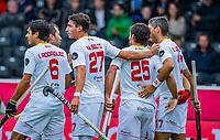 ANTWERP - BELFIUS EUROHOCKEY Championship  .  Spain v Wales (5-1).  Pau Quemada (Esp) scored and celebrates the goal   WSP/ KOEN SUYK