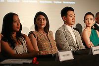 Angeles Woo, Masami Nagasawa, Dawei Tong,  Zhang Ziyi, Press Conference for John Woo's forthcoming film The Crossing, Saturday 17th May 2014, Cannes, France.