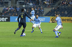 October 31, 2018 - New York, New York, United States - Mark McKenzie (19) of Philadelphia Union controls ball during knockout round game against NYCFC at Yankees stadium NYCFC won 3 - 1  (Credit Image: © Lev Radin/Pacific Press via ZUMA Wire)