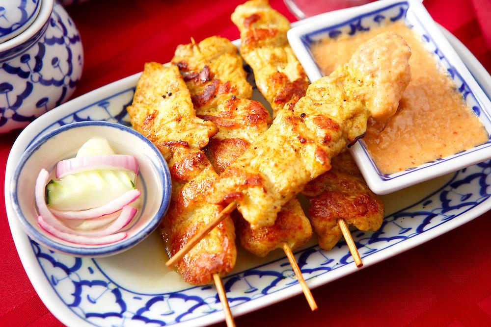 Thai Chicken Satay Appetizer