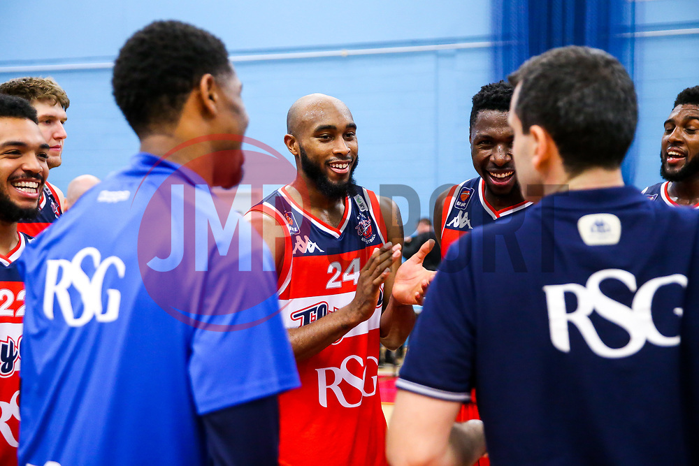 Brandon Boggs of Bristol Flyers celebrates - Rogan/JMP - 11/11/2017 - BASKETBALL - SGS Wise Arena - Bristol, England. - Bristol Flyers v Glasgow Rocks - British Basketball League.